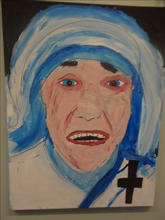 Inspirational people canvas painting year 6 mother Teresa Display Boards For School, School Displays, Year 6, Mother Teresa, Inspirational, Canvas, People, Painting, Tela