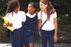 Looking good to hang out with all of your friends when you go Back to School with uniforms from Forman Mills.