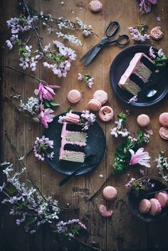 neopolitan cake with macaron by styled by Call me Cupcake Food Photography Styling, Food Styling, Cake Photography, Photography Photos, Neapolitan Cake, Call Me Cupcake, Cupcake Cakes, Cupcakes, Pavlova