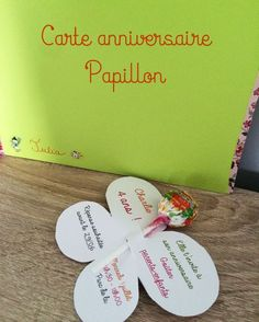 carte_papillon Ballerina Party, Invitations, Activities, Birthday, Kids, Crafts, Grenoble, Organiser, Club
