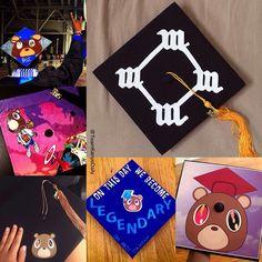 Kanye inspired graduation caps