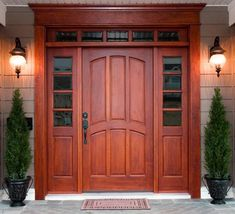Knotty Alder Front Entry Doors With 2 Full Sidelights Pre Hung Solid Wood Doo