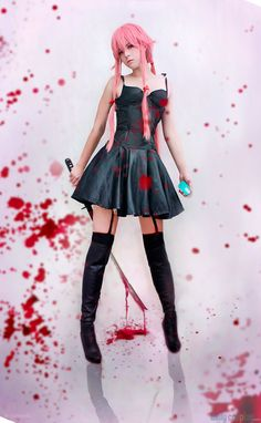 Yuno Gasai from Future Diary / Mirai Nikki http://dailycosplay.com/2014/March/18b.html