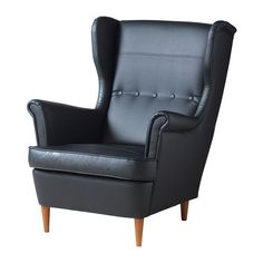 IKEA - STRANDMON, Wing chair, , You can really loosen up and relax in comfort because the high back on this chair provides extra support for your neck.