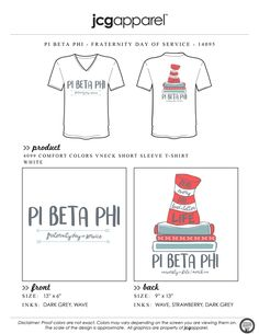 JCG Apparel : Custom Printed Apparel : Pi Beta Phi Fraternity Dayt of Service T-Shirt #greek #pibetaphi #piphi #fraternity #dayofservice #read #catinthehat #drseuss #philanthropy #handdrawn #book #readeveryday #leadabetterlife
