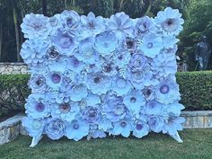 A personal favorite from my Etsy shop https://www.etsy.com/listing/280823466/paper-flower-wall-8x10-custom-order