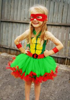 Teenage Mutant Ninja Turtle Tutu Dress Costume by TutieCutieTutus, $40.00