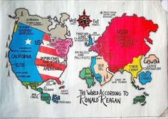 The World According To Ronald Reagan More Stereotype Maps