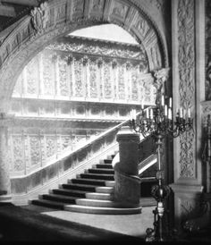 The grand staircase of the William K. Vanderbilt mansion that was located at 52nd Street & Fifth Avenue. Demolished about 1926. - from Guilded Age Mansions