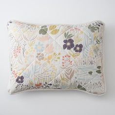 Woodland Meadow Quilted Pillow Sham