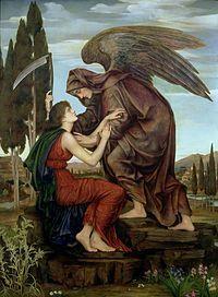 Есть ангел смерти; в грозный час Последних мук и расставанья Он крепко обнимает нас, Но холодны его лобзанья, И страшен вид его для глаз