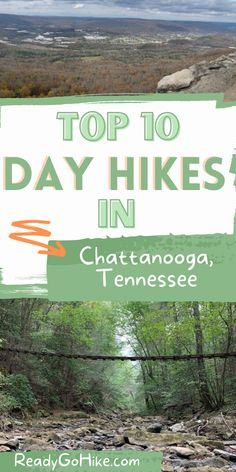 Chattanooga, Tennessee, is known as the Scenic City, and there's a good reason for that! The area is home to some of the most scenic natural beauty in the country. If you're interested in seeing this natural beauty for yourself, you must check out these top 10 hiking trails in Chattanooga. These best hikes in Chattanooga, TN include everything from top hikes for families to the best hikes for backpackers. Explore these best day hikes in Chattanooga today! hike|hiking|best hikes in… Chattanooga Tennessee, Adventure Activities, Best Hikes, Travel Info, Day Hike, Family Adventure, Hiking Trails, Outdoor Travel, Outdoor Activities