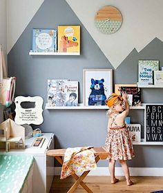 That time a bunch of talented people came together to create this scene // colorful kids room inspiration Baby Bedroom, Girls Bedroom, Kids Bedroom Paint, Ideas Habitaciones, Kid Spaces, Kids Decor, Girl Room, Child Room, Room Inspiration