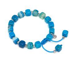 Lola Rose Justina Bracelet in Blue Persian Agate- £29.00 http://www.lolarose.co.uk/new-arrivals/justina-bracelet-44069