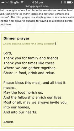 Catholic Wedding Reception Prayer before Meal Insp Christmas Dinner Prayer, Thanksgiving Prayers For Family, Prayer For Family, Thanksgiving Dinner Prayer, Wedding Prayer, Wedding Blessing, Catholic Wedding, Wedding Reception Ideas, Prayer Verses