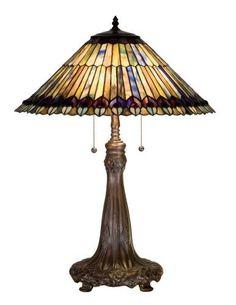 Meyda Tiffany 27562 Meyda Tiffany 27562 Tiffany Jeweled Peacock Table Lamp in Copperfoil finish