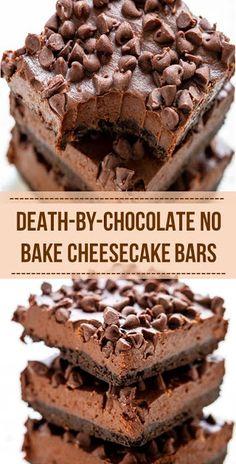 Best Dessert Recipes, No Bake Desserts, Sweet Recipes, Delicious Desserts, Yummy Food, Frozen Desserts, Cookie Desserts, Easy Recipes, Death By Chocolate