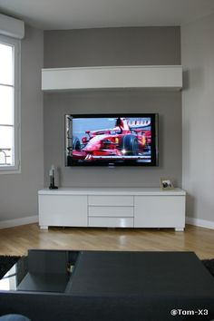1000 id es sur le th me tv au mur sur pinterest. Black Bedroom Furniture Sets. Home Design Ideas