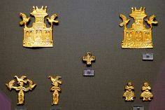 Athens - National Archeology Museum - Mycenae Artifacts  gold.15th cent BC