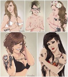 THE GIRL VERSION OF 1D THIS IS SO HOT WOW<<< This is what they would look like in my fanfiction-Jordyn