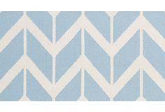 One Kings Lane - Rug Refresh - Haven Flat-Weave Rug, Winter Blue