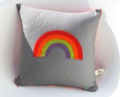 Kissen - personalisierte Kissen 'Regenbogen' - ein Designerstück von FraeuleinOtten bei DaWanda