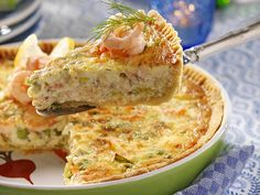 Lunch Recipes, Baby Food Recipes, Seafood Recipes, Cooking Recipes, Best Cauliflower Pizza Crust, Party Friends, Quiches, Good Food, Yummy Food