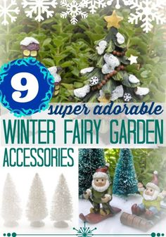 9 Adorable Winter Fairy Garden Accessories | eBay