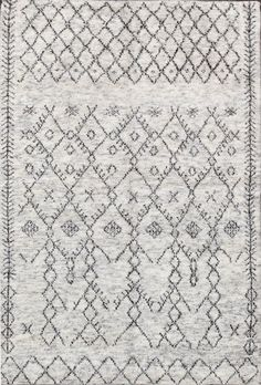 Moroccan Beni Ouarain Grey Wool Rug — Best offer $479
