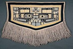 Chilkat Blanket with Stylized Animal Motifs, early 20th century. Tlingit. Mountain Goat Wool and Cedar Bark. Southwest Museum of the American Indian, Los Angeles.
