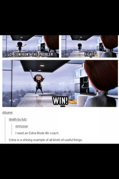 I need an Edna Mode life coach! The Incredibles is the best. Edna Mode, Disney And Dreamworks, Disney Pixar, Walt Disney, Disney Love, Disney Magic, Disney Animation, Animation Movies, To Infinity And Beyond