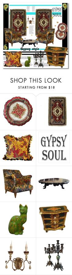 """gypsy style"" by psyche8778 ❤ liked on Polyvore featuring interior, interiors, interior design, home, home decor, interior decorating and Caravelle by Bulova"