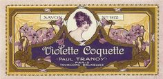 Violette Coquette Paul Tranoy Savon Antique Label Paris France Perfume Parfum | eBay