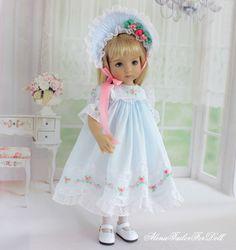 Embroidered Dress for Effner Little Darling doll by AlenaTailorForDoll Doll Clothes Patterns, Doll Patterns, Clothing Patterns, Baby Barbie, Barbie Dolls, Lifelike Dolls, Madame Alexander Dolls, Little Darlings, Cute Dolls