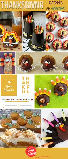 Before you grab that turkey leg, check out this array of super cute turkey and Thanksgiving crafts and treats to make and eat with kids and adults!: