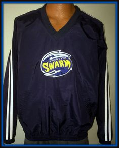 MINNESOTA SWARM VINTAGE GEAR FOR SPORTS VNECK PULLOVER NYLON JACKET ADULT MEDIUM #GEARFORSPORTS #MinnesotaSwarm