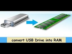how to convert USB drive into RAM and increase  PC speed
