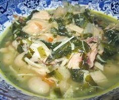 Chicken and White Bean Spinach Soup ~ E {Trim Healthy Mama, GAPS, Paleo, SCD, Dairy Free, Grain Free, Gluten Free}