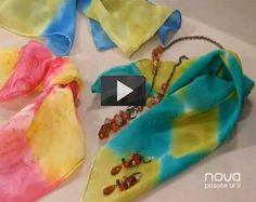 La técnica para pintar sobre seda es muy sencilla y podrás crear y pintar originales y elegantes pañuelos de seda o prendas de vestir a tu gusto. Para apli