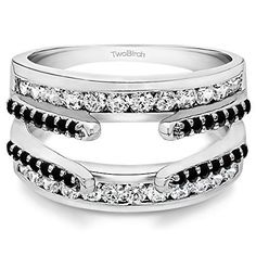 #blackdiamondgem Sterling Silver Combination Cathedral and Classic Ring Guard set with Black And White Cubic Zirconia (0.49 Ct. Twt.)	by TwoBirch - See more at: http://blackdiamondgemstone.com/jewelry/sterling-silver-combination-cathedral-and-classic-ring-guard-set-with-black-and-white-cubic-zirconia-049-ct-twt-com/#sthash.sWL9RnQt.dpuf