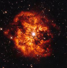Hubble Image of Star Hen 2-427 and Nebula M1-67