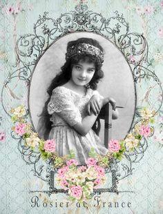 Vintage child digital collage free for personal use Decoupage Vintage, Vintage Crafts, Shabby Vintage, Vintage Paper, Vintage Flowers, Images Vintage, Vintage Artwork, Vintage Pictures, Vintage Photographs