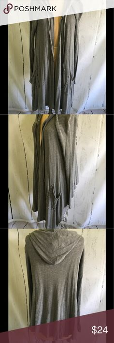 Hooded Cardigan New like condition thermal fabric longer Cardigan. Boutique Tops Sweatshirts & Hoodies