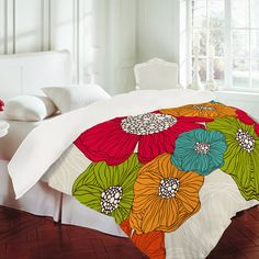 Flowers Duvet Cover by Valentina Ramos