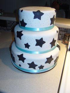 Tiered Star Birthday cake