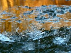 Ice crystals form on Chippewa River