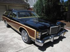 1977 Ford LTD Country Squire wagon with my favorite option of the era. Hidden headlights!!