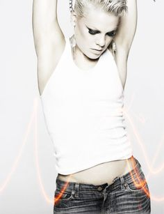 Pink. I admire her strength. Physical, mental and emotional.