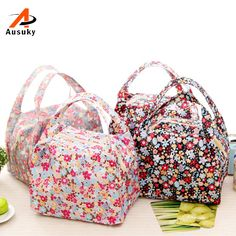 New Fashion Portable Insulated Canvas Lunch Bag Thermal Picnic Cooler Lunches Bags
