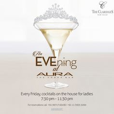 There's added reason to #celebrate every #Friday, as we are preparing to pamper all the #women in the city with a heady mix of #cocktails and music, served with our compliments. Join us, as we raise a toast to you tomorrow night!